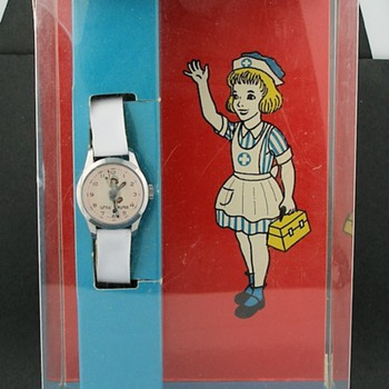 1968 Little Nurse Watch in Box by World Wide Watch Co. - Wristwatches