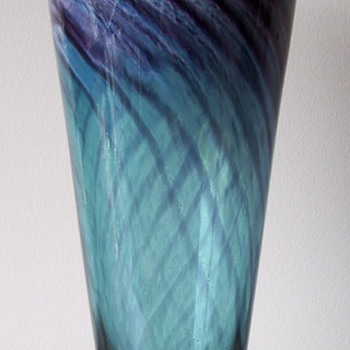 Tall Glass Vase - Art Glass