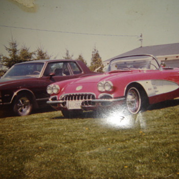 My 2 former babies, 1959 Corvette, & 1978 Monte Carlo