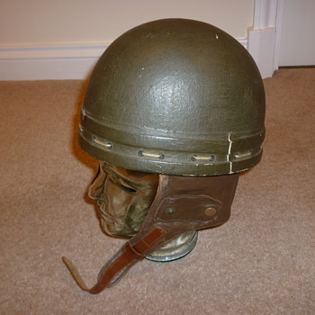 British WW11 Papier Mache and cloth Dispatch Riders helmet