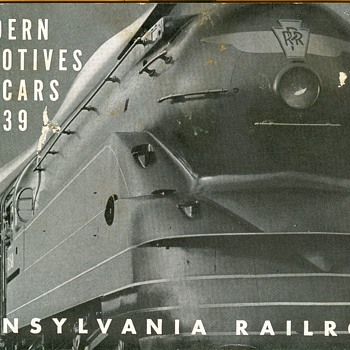 PRR Steam Locomotives and Cars circa 1939