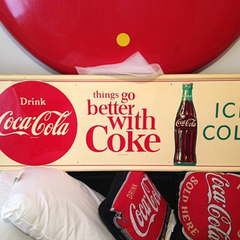 1963 Drink Coca-Cola Horizontal Sign - Coca-Cola