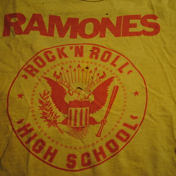 Ramones Rock N Roll High School T Shirt - Mens Clothing