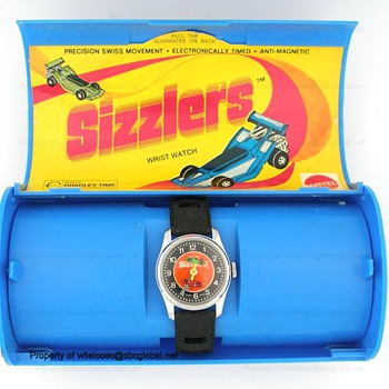 1973 Bradley SIZZLERS Hot Wheels Wrist Watch in Box - Wristwatches