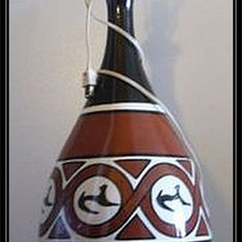 Funky Ceramic Lamp - Unknown Maker - Lamps
