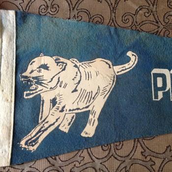 Vintage Penn State Football Felt Pennant