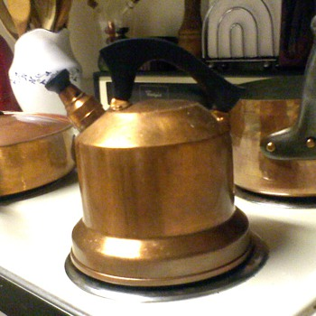 Depression Era West Bend Co. Solid Copper Kettle