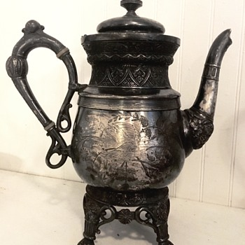 Pewter Teapot - Peoria Plating Works