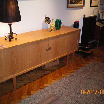 "Hans Wegener Sideboard 'President"" ca 1965, oak, made by Tuck"