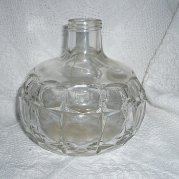 Unknown Pattern Heavy Decanter/Bottle Screw Top w/o lid - Glassware