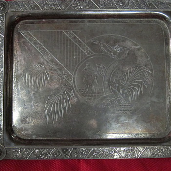 Silver Plated Tray - Sterling Silver
