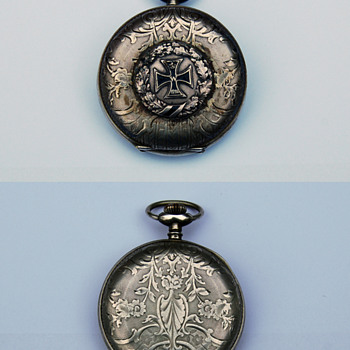 Pocket watch with Iron Cross.