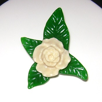 Plastic Flower Pin - Costume Jewelry