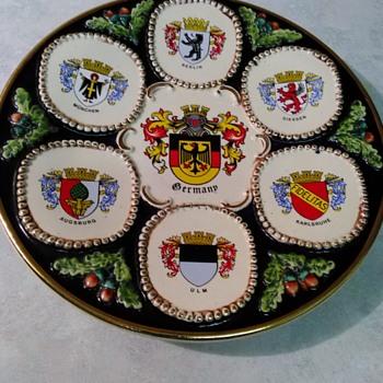GERMAN POTTERY PLATE - Pottery