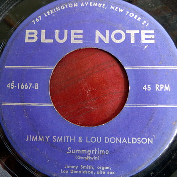 "1957 Jimmy Smith/Lou Donaldson ""How High the Moon"" b/w ""Summertime"" 45rpm"