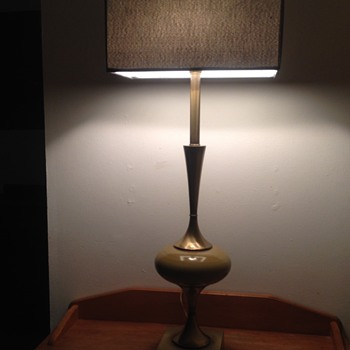 Mid Century Rembrandt Brass Table Lamp