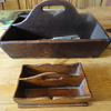 Unusual size old Cutlery / knife box  childs?