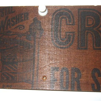 Crystal washer... wood sign? - Advertising