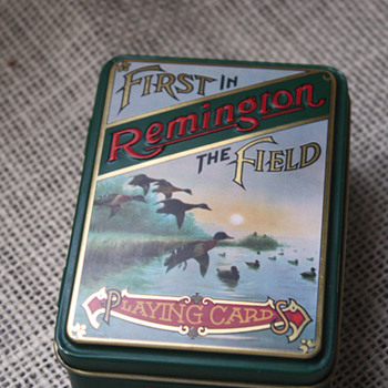 Remington Firearms Tin - Advertising