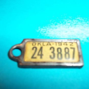 1942 OKLAHOMA  DAV IDENTIFICATION TAG