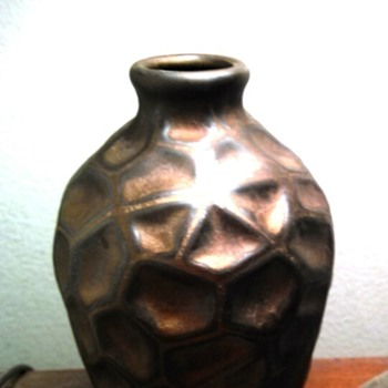 "Art Deco Ceramic Vase 5""  Geometric Pattern"