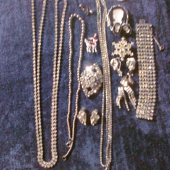 Rhinstone I remember wear some of these pieces my grandmother let wear to Prom 23 years ago. - Costume Jewelry
