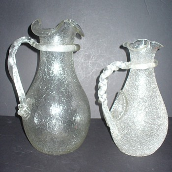 KRALIK, LOETZ OVERSHOT PITCHERS: A COMPARISON. - Art Glass