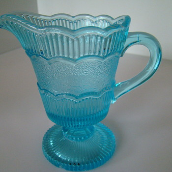 Victorian era pressed glass creamer - Germany