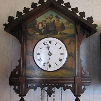 If there are any other painted Black forest clocks out there i would love to see!   take a look.