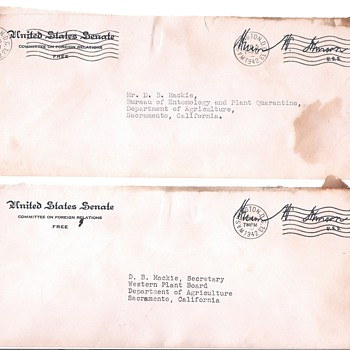 Senator signed covers from 1940's