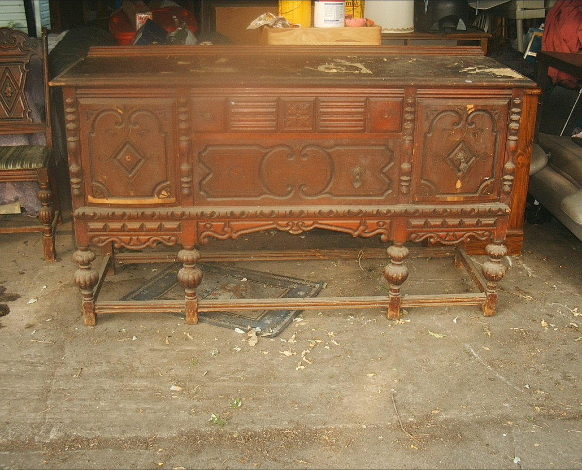 Table Base Chair Amp Matching Buffet Collectors Weekly