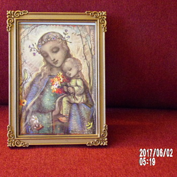 Madonna and Child Post Card by B. Hummel