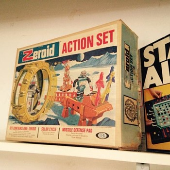 Science Fiction ZEROID ACTION SET, Date? IDEAL TOY - Toys