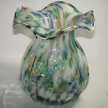 "Italian 4 color Vase""XX century"" - Art Glass"