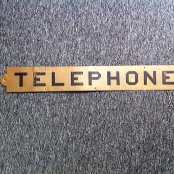 Vintage Tin Telephone Sign - Signs