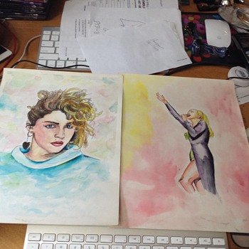 madonna water color by garrett or whoever  - Visual Art