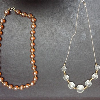 WMF Myra Krytall Glass Bead and Myra Ikora Glass Bead Necklaces - Costume Jewelry