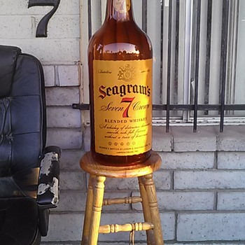 Seagram's 7 Crown 5 gallon glass bottle