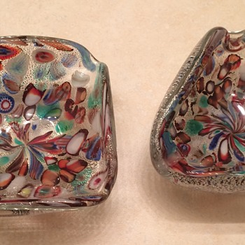 Vintage Murano Glass Bowls - Art Glass
