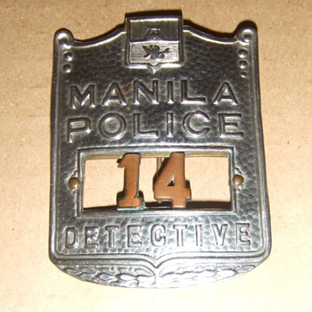 Manila Police Detective's Badge - Medals Pins and Badges