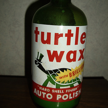 Turtle Wax Bottle (found this in an old out building) - Bottles