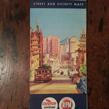 Chevron Street & Vicinity Map of San Francisco 1950 - Petroliana