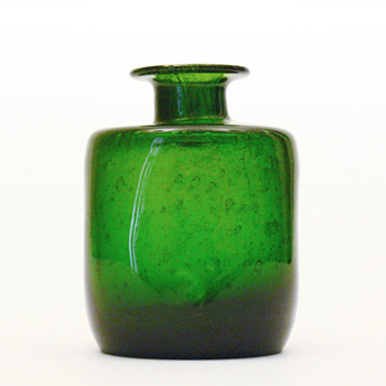 Vase designed by Hans-Christian Wagner bearing  Holmegaard label (Björshult, 1960s?) - Art Glass