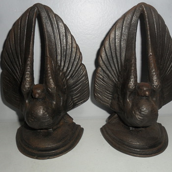Cast iron pigeon book ends  - Books