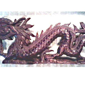 Eastern Dragon Wood Carving / Unknown Maker and Age