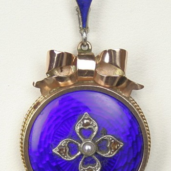 Enamel locket and enamel ring - Fine Jewelry
