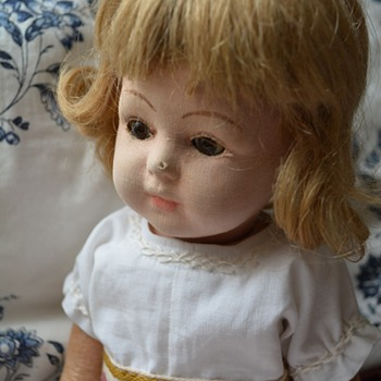 Mystery antique cloth doll