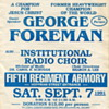 Flyer Advertising George Foreman as a Guest Speaker at a Religious Event
