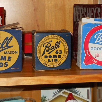 Vintage Box of Ball Dome Lids 63 for Small Mouth Jars