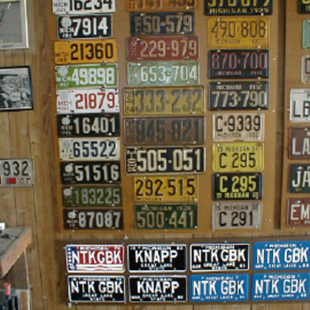 Family Car License Plates - Photographs